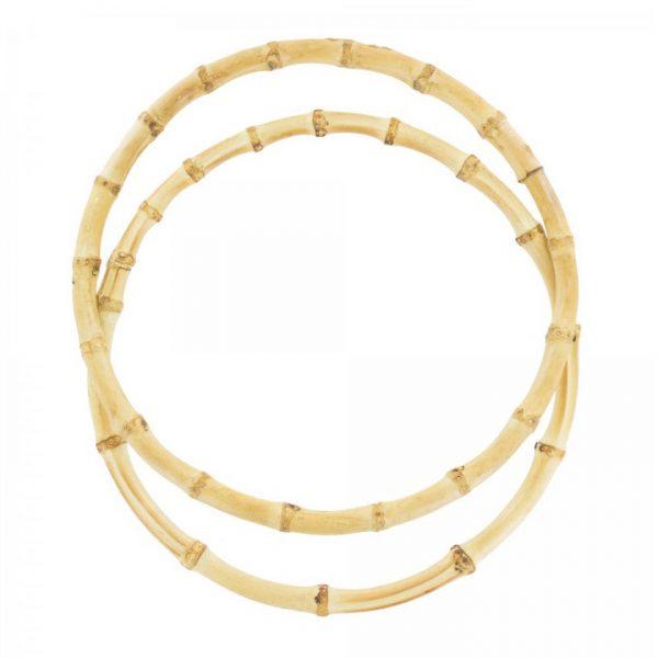 Anses de sac - Poignées en bambou - 21 cm