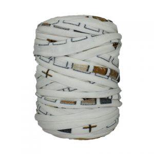 Trapilho-bobine-pelote-imprimé-blanc-cassé