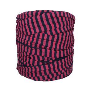 Trapilho-bobine-pelote-rayé-framboise-marine
