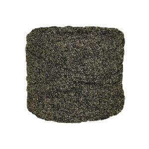 Trapilho--bobine-gris-pailleté-doré-argent