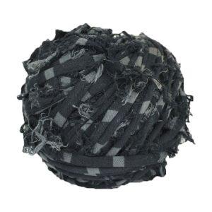 Trapilho - bobine - pelote-rayé-noir-gris