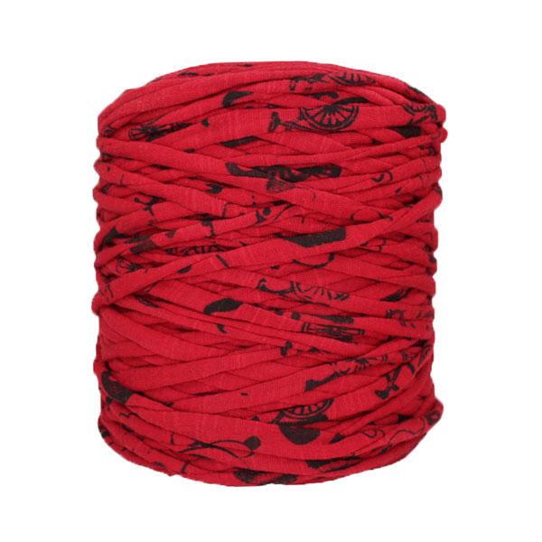 Trapilho-bobine-pelote-imprimé-noir-rouge-foncé