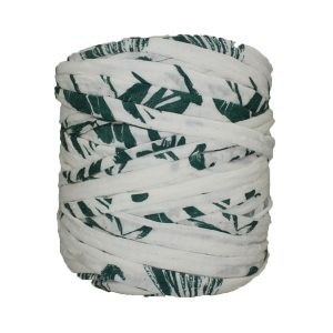 Trapilho-bobine-pelote-imprimé-vert-blanc