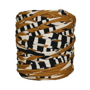 Trapilho-bobine-pelote-imprimé-noir-beige-blanc-cassé